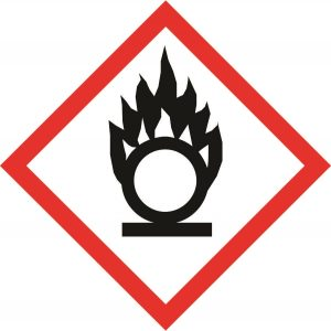 Oxidisers hazard symbol