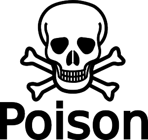 Poison hazarduous symbol