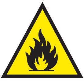 flammable hazarduous symbol